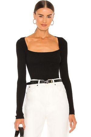 Lovers + Friends Tie Back Fitted Rib Sweater in . Size XXS, XS, S, M, XL.