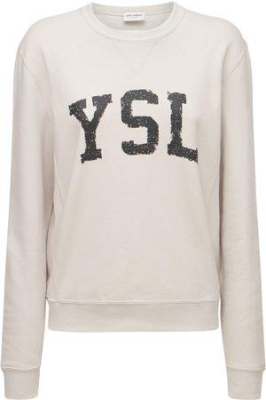 Saint Laurent Logo Cotton Sweatshirt