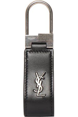 Saint Laurent Schlüsselanhänger Aus Leder Mit Ysl-logo