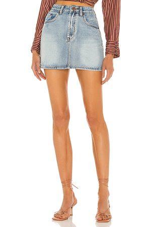 ONE TEASPOON 2020 Mini High Waist Denim Skirt in . Size 23, 24, 25, 26, 27, 28, 29, 30, 31.