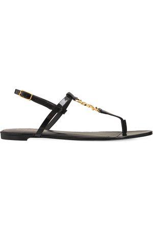"""Saint Laurent 10mm Hohe Sandalen Aus Lackleder """"cassandra"""""""