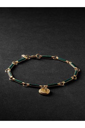 Foundrae Herren Armbänder - 18-Karat Gold Malachite Bracelet