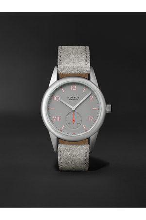 Nomos Glashütte Herren Uhren - Club Campus Hand-Wound 36mm Stainless Steel and Leather Watch, Ref. No. 712