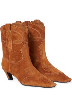 Khaite Ankle Boots Dallas aus Veloursleder