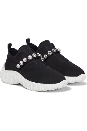 Miu Miu Verzierte Slip-on-Sneakers