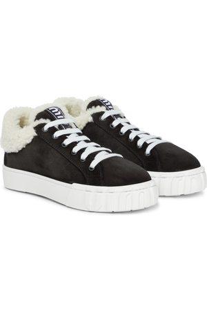 Miu Miu Sneakers Macro aus Veloursleder