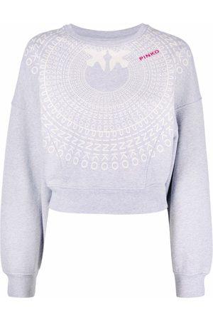 Pinko Cropped-Sweatshirt mit Logo-Print