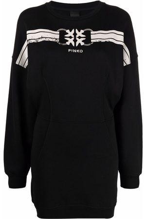 Pinko Damen Freizeitkleider - Sweatshirtkleid mit Logo