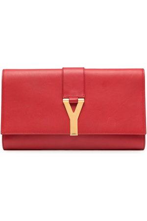 Yves Saint Laurent Pre-Owned Damen Clutches - Clutch mit Logo-Schild