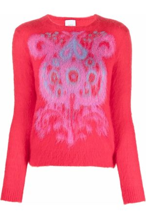 Patou Damen Strickpullover - Pullover mit Paisleymuster