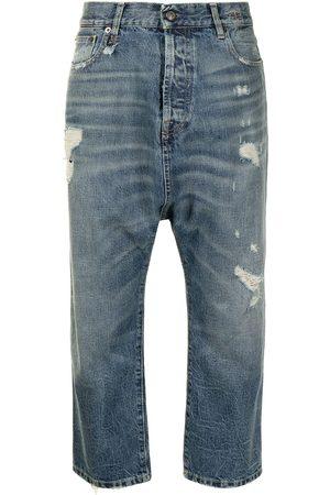 R13 Damen Cropped - Cropped drop-crotch jeans