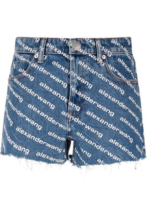 Alexander Wang Logo-print denim shorts
