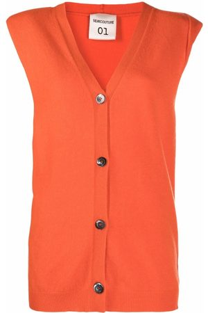 SEMICOUTURE V-neck knitted vest