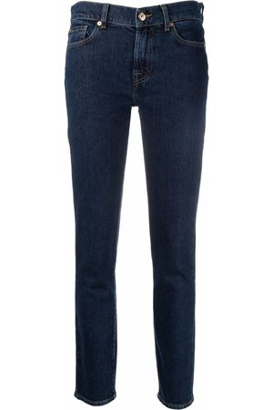 7 for all Mankind Tief sitzende Skinny-Jeans