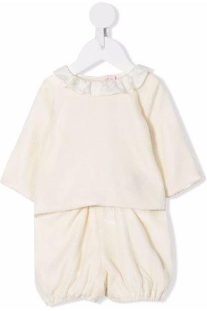 BONPOINT Ruffle-collar trouser set - Nude