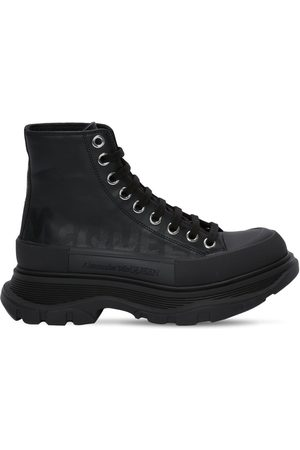 Alexander McQueen Damen Stiefel - 45mm Tread Slick Graffiti Combat Boots