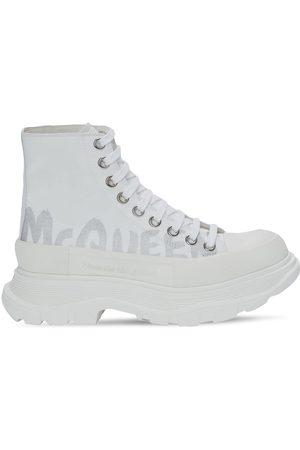 ALEXANDER MCQUEEN 45mm Tread Slick Graffiti Combat Boots