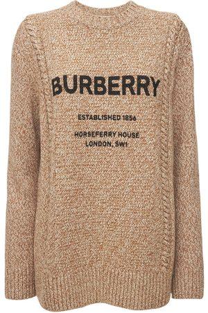 """Burberry Damen Strickpullover - Pullover Aus Wolle Und Baumwolle Mit Logo """"mabel"""""""