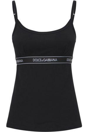 Dolce & Gabbana Camisole-oberteil Aus Baumwolljersey