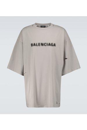 Balenciaga T-Shirt Blurred aus Baumwolle