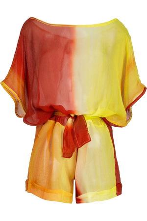 AMIR SLAMA Playsuit aus Seide mit Farbverlauf
