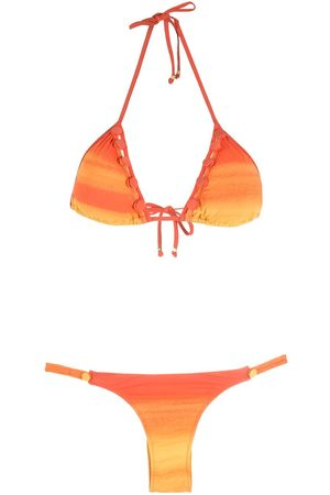 AMIR SLAMA Bikini mit Ombré-Streifen