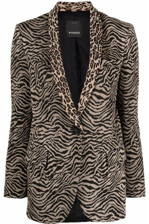 Pinko Blazer mit Zebra-Print