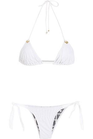 AMIR SLAMA Damen Bikinis - Triangel-Bikini mit Neckholder