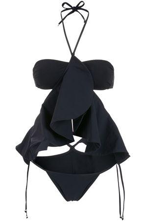 AMIR SLAMA Neckholder-Bikini mit Rüschendetail