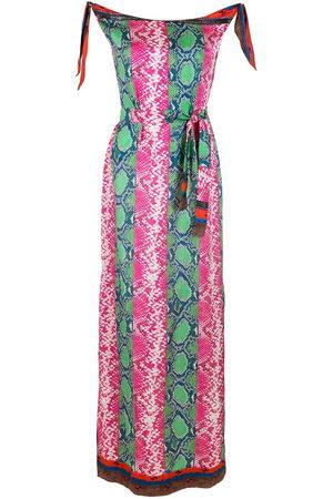 AMIR SLAMA Kleid mit Schlangenleder-Print - Mehrfarbig