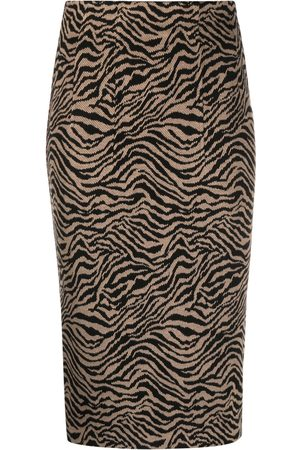Pinko Tiger-print pencil skirt - Nude