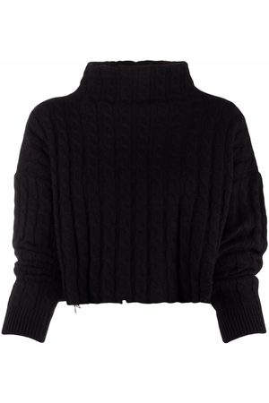 Pinko Cable-knit cropped jumper