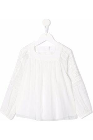 Chloé Square-neck silk blouse