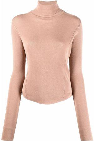 LEMAIRE Damen Rollkragenpullover - Fine-knit rollneck top - Nude
