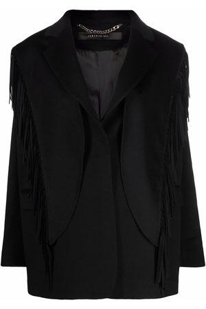 FEDERICA TOSI Fringe-detail single-breasted blazer