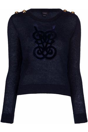 Giambattista Valli Embroidered-logo fitted jumper