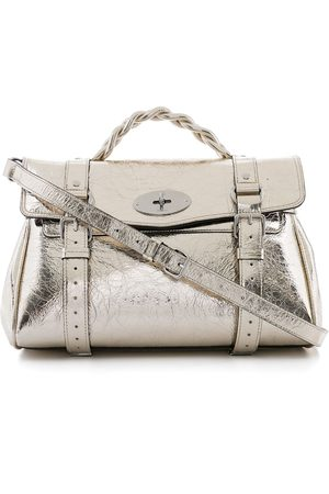 MULBERRY Crushed-effect metallic Alexa bag