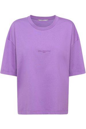Stella McCartney Damen Shirts - T-shirt Aus Baumwolle Mit Logo