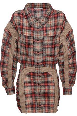 Stella McCartney Damen Freizeitkleider - Langes Minikleid Aus Wolle