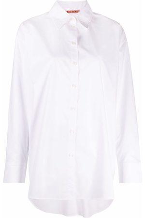 Acne Studios Curved-hem cotton shirt