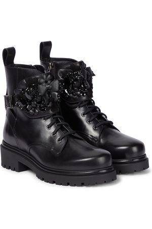 RENE CAOVILLA Damen Stiefeletten - Verzierte Ankle Boots aus Leder