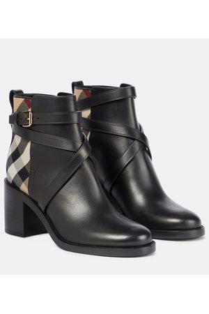 Burberry Ankle Boots Archive Check aus Leder