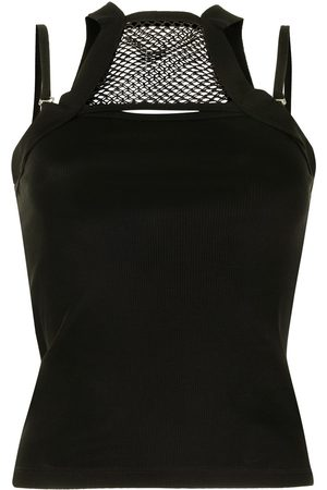 DION LEE Damen Tanktops - Net holster panelled tank top