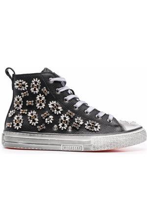 Philipp Plein Megastar crystal-embellished high-top sneakers