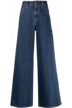Stella McCartney Weite Jeans mit Logo-Print