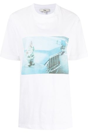 Tibi T-Shirt mit Foto-Print