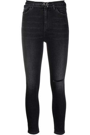 Pinko Damen Skinny - Skinny-Jeans mit hohem Bund