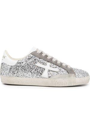 Premiata Damen Schnürschuhe - Glitter-detail lace-up trainers