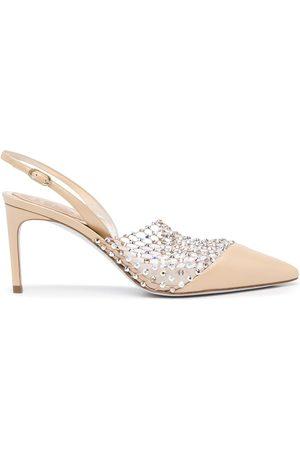 RENÉ CAOVILLA Gem-embellished pointed sandals