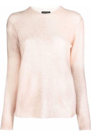 Roberto Collina Damen Strickpullover - Crewneck cashmere-blend jumper - Nude